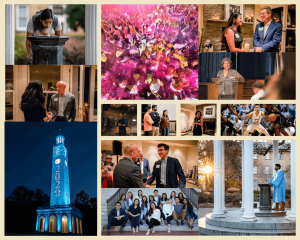 Photo collage of scenes of Asian American life at UNC Chapel Hill