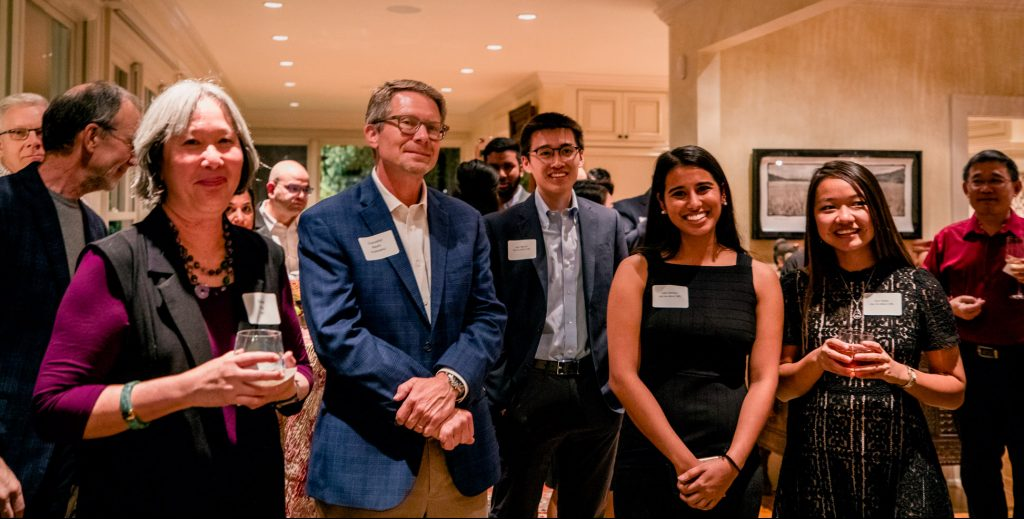 Participants at the Carolina Asian American Initiatives reception in November 2019, including Chancellor Guskiewicz and first Asian American Center Campaign chair Sean Nguyen